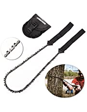 Overmont Pocket Chainsaw Hand Chainsaw 17 Teeth Standard-type Portable Bidirectional Chain Tree Saw for Gardening Survival Outdoor Camping Wood Cutting
