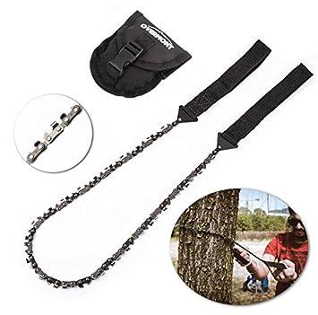 Seghetta Portabile,per attivit/à Outdoor per segare Un Tronco Tagliare Albero ECC Overmont Sega a Catena Bidirezionale Chain Saw