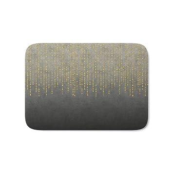 Amazon De Vercxy Dark Glamour Golden Glitzer Badteppich 59 9 X 44
