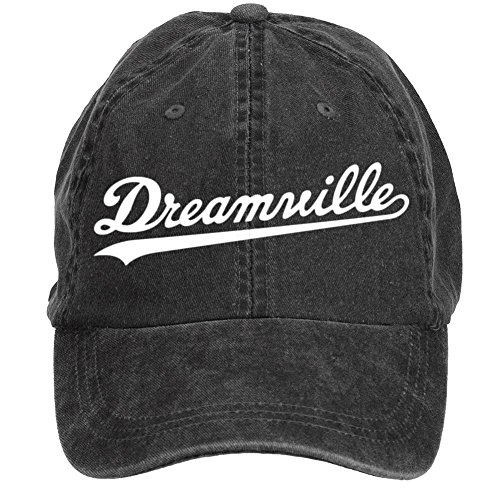[Blissshirt Men J Cole Dreamville Logo Cotton Adjustable Snapback Baseball Cap Black] (Logo Adjustable Cotton)