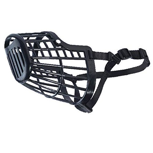 Guardian Gear BASKET MUZZLES for DOGS - 7 Sizes & 2 Colors Available Low Prices Vet Sets Too(xSmall 9 Inch Snout Black) (Guardian Gear Basket Muzzle)