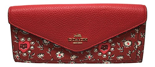 Coach Wild Heart Print Soft Envelope Wallet 57489 by Coach