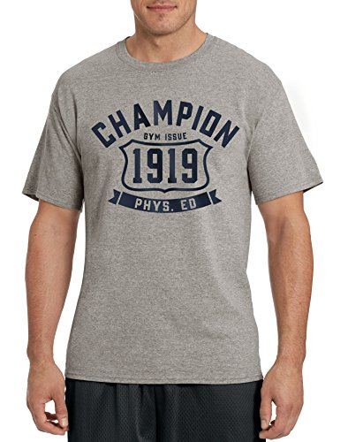 Champion Men's Gym Shirt Graphic Tee Oxford Gray X-Large