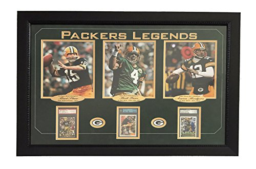 FAVRE STARR RODGERS SIGNED PACKERS 8X10 CARD COLLAGE JSA BGS PSA ROOKIE from Unknown