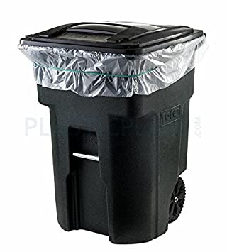 Plasticplace 95 Gallon Trash Bags, 2.0 Mil, 61 W x 68 H, Clear, 50/Case 61 W x 68 H W95LDC