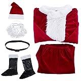 Santa Claus Costume Christmas Santa Suit Velvet Deluxe Santa Suits for Adults Santa Costume for Men