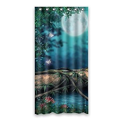 "90 cm x183 cm (36 ""x72"") Bathroom Shower Curtain, Charming Scenery HD Custom Background Design, High Quality Waterproof Polyester Fabric Shower Curtain Mildew"