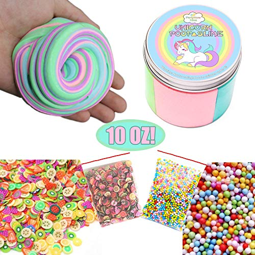 Unicorn Poop Slime,Fluffy Slime Putty, Unicorn Slime, Unicorn Gifts and Unicorn Toys, Unicorn Silly Putty, Magical Slime Prime and Glitter Putty, Toy Putty -10oz LARGE SIZE by PartyNow
