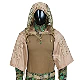 Tactical Ghillie Jacket Sniper Tog Ghillie Suit Base Brown