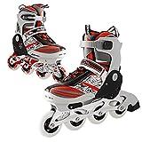 Kids Tracer Adjustable Inline Skates Indoor Outdoor 4 Durable PU Wheels Rollerblades Children Skates Blue/ Red (Red, US 4-6)