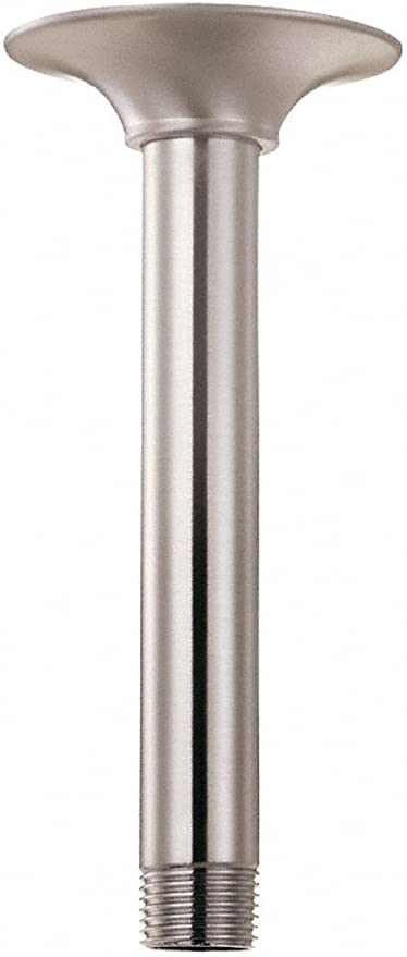 KES 12 INCH Ceiling Mount Shower Arm with Shower Flange Escutcheon for Shower Head Brass Brushed Nickel PSAN102-BN