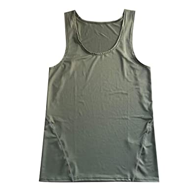 HWTOP Herren Tank Top Classic Unterhemd Slim Fit Sportweste