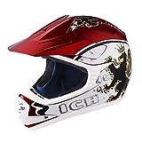 AHR DOT Youth Motocross Helmet Full Face Offroad Dirt Bike Helmet Motorcycle ATV Mountain Bike Sports M