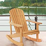 Garden Rocking Rest Adirondack Wood Chair,Furniture Lawn Patio Deck Seat BestMassage