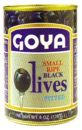 Goya Small Ripe Black Olives 6 oz