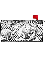 IOAOAI Mailbox Covers Magnetic Post Box Protector for Outdoor Garden Home DÃcorimage Anemones Flowers