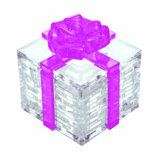 Original 3D Crystal Puzzle - Pink Gift Box