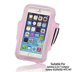 OnlineBestDigital - Sports Running Jogging Gym Armband Case Holder for Apple iPhone 6 (4.7 inch)Smartphone - Pink