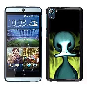 TopCaseStore / la caja del caucho duro de la cubierta de protección de la piel - Evil Flaming Duck - HTC Desire D826