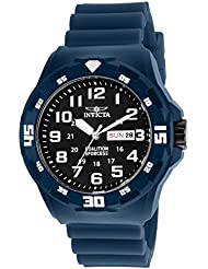 Invicta Mens Coalition Forces Quartz Stainless Steel and Silicone Casual Watch, Color:Blue (Model: 25324)