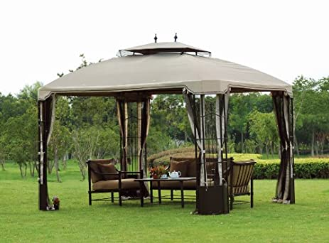 L GZ120PST Big Lots 10 X 12 Bay Window Gazebo 2009 Replacement Canopy