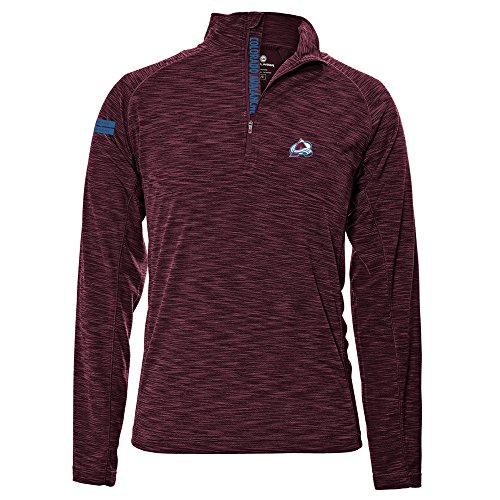 Levelwear LEY9R NHL Colorado Avalanche Men's Mobility Insignia Strong Style Quarter Zip Mid-Layer Apparel, X-Large, Maroon