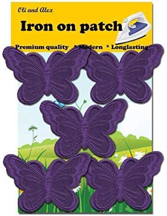 "2/"" Purple Shiny Butterfly Embroidery Patch"