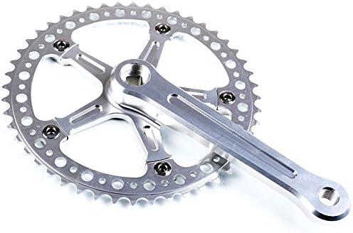 jnp 48T Retro Ciclismo bicicleta Carretera Bielas (platos, plata ...
