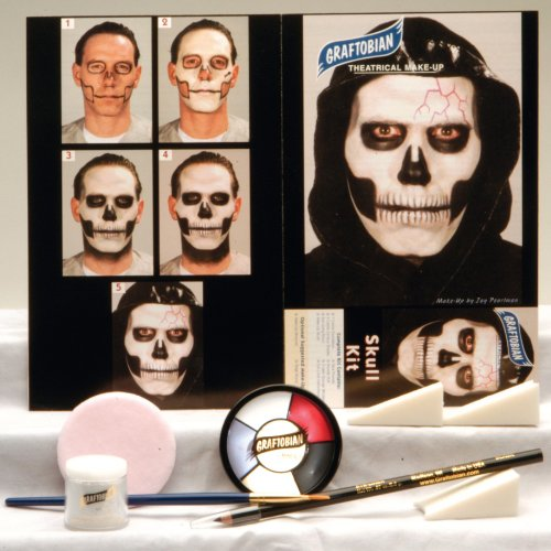 Skull Make-up Kit (Makeup Halloween Costumes)