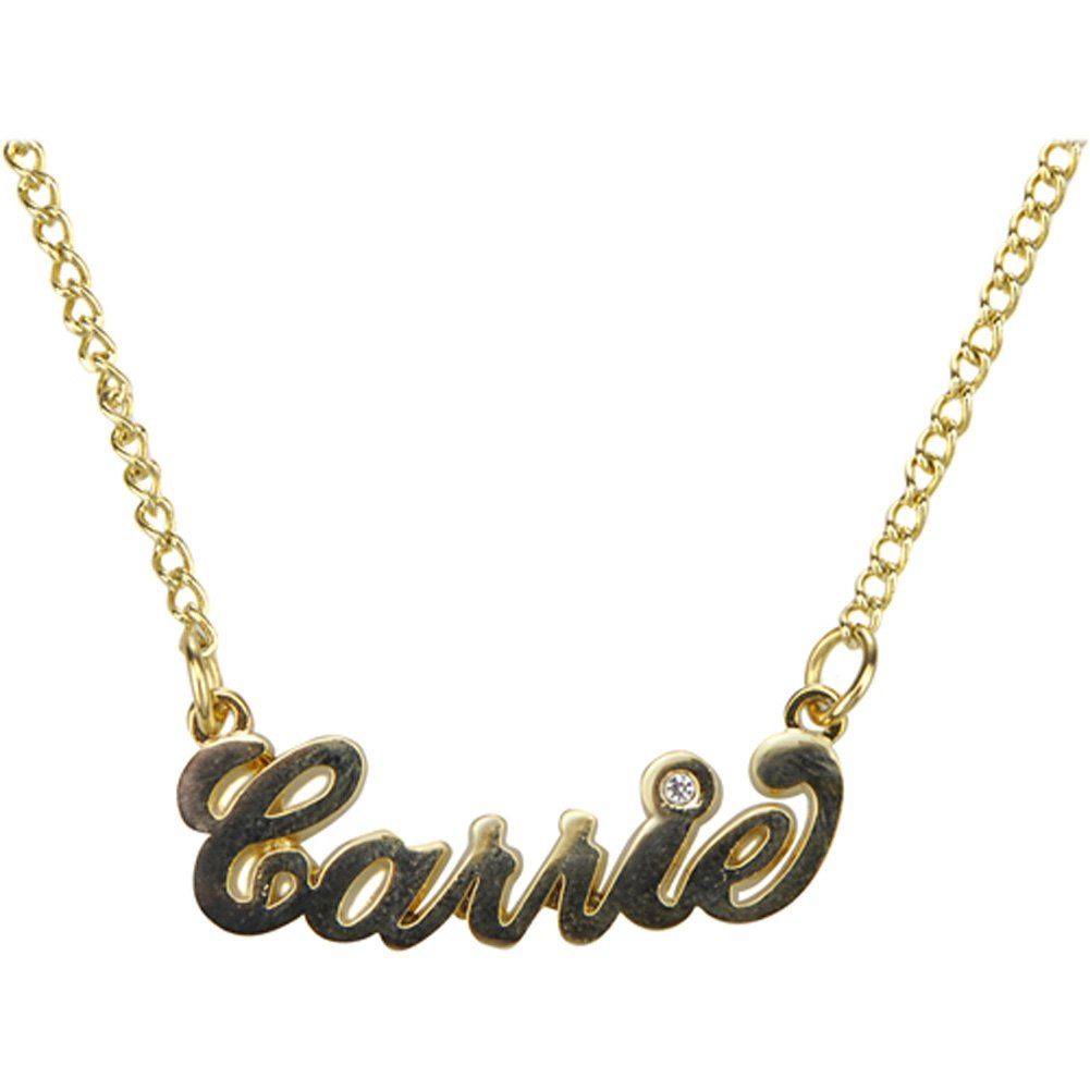 SEX and the City Love Carrie Necklace New Gold Plated Satc Movie Props