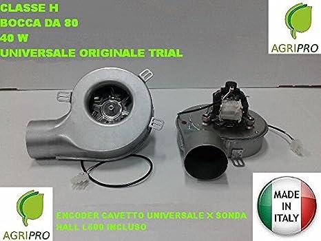 Extractor de humos, estufa, pellet, ventilador + encoder universal, 40 W d. 80 Clase H.: Amazon.es: Hogar