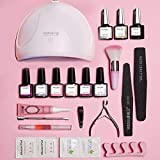 Modelones Gel Nail Polish Kit with UV Light - 6