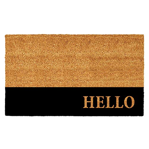 Calloway Mills AZ104863048 Hello Black Stripe Doormat, 30