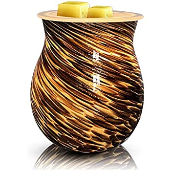 Heung Hoi New Electric Wax Warmer Art Glass Scented Candle Warmer Tart Burner for Wax Melts Fragrance Oil Night Light Aroma Decorative Lamp for Gifts & Decor, Home, Office, Bedroom, Living Room (BG2)