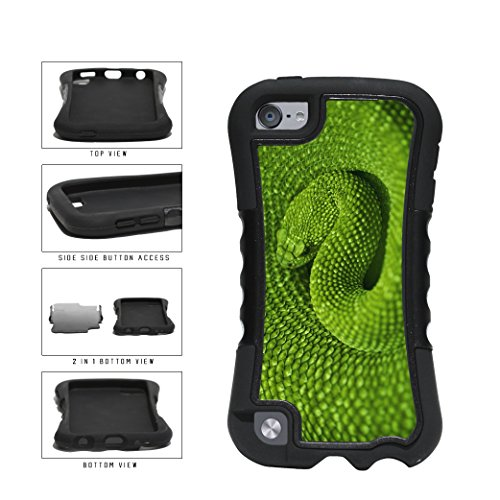 BleuReign(TM) Detailed Green Snake Dual Layer Phone Case Back Cover Apple iPod Touch 5th Generation