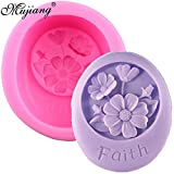 Star Trade Inc - 3D Faith Flower Silicone Candle Mold Soap Polymer Clay Molds Chocolate Fondant Cake Moulds DIY Kitchen Baking Cake Tools
