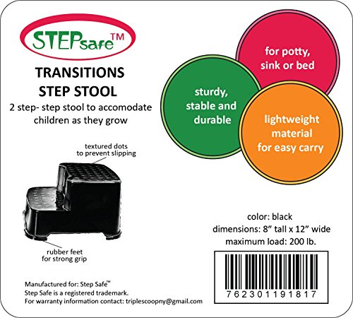 Stepsafe Step Stool 2 Step For Kids And Adults Non Slip