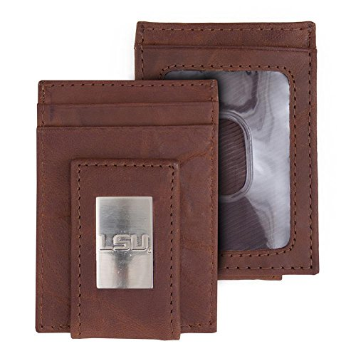 - Eagles Wings LSU Tigers Louisiana State Wallet Front Pocket Leather Wallet