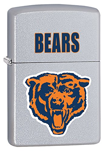 Zippo Lighter - NFL Throwback Chicago Bears Satin - Satin Bears Chicago