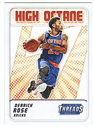 859ae4799858 Amazon.com  2016-17 Panini Threads High Octane Insert  2 Derrick Rose Knicks   Collectibles   Fine Art