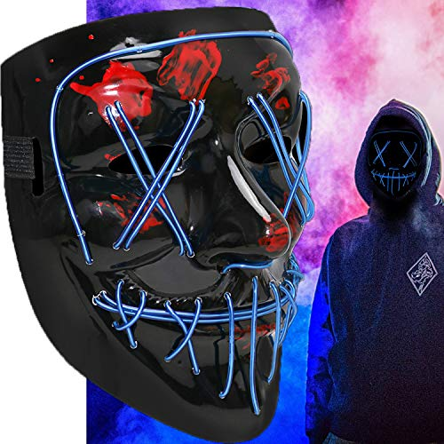 Halloween Scary Mask Cosplay Led Costume Mask EL