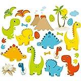 Dino Friends Vinyl Wall Decals Dinosaurs Kids Room Decor Boys Nursery Wall Art
