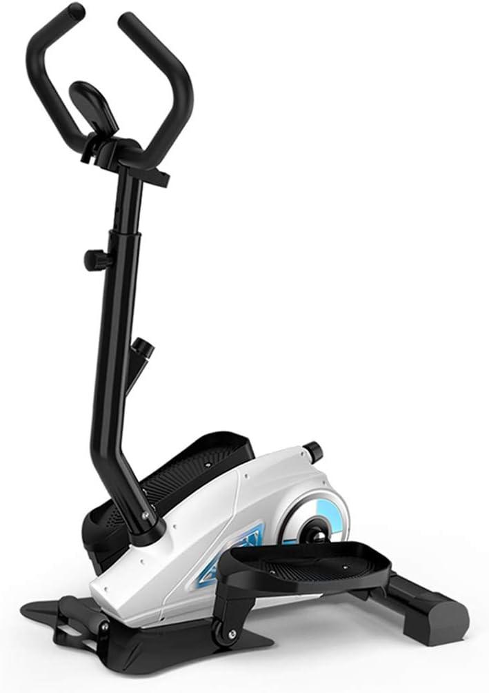 YNLRY Paso A Paso Magnética Mini Peso J Dispositivo Pérdida Steppers Pedal De La Máquina Elíptica For Correr Entrenador Ejercicio Familia (Color : White, Size : 75 * 49 * 148CM)