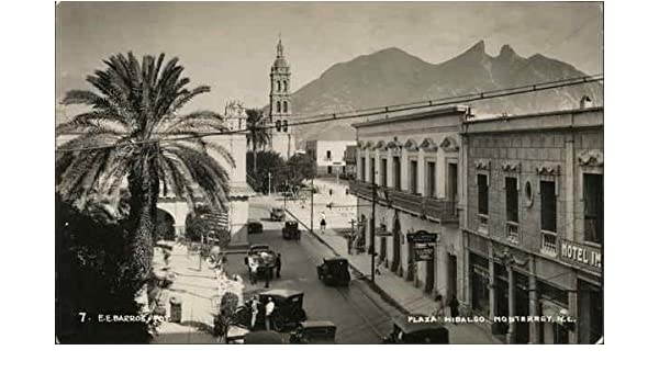 Plaza Hidalgo Monterrey Mexico Original Vintage Postcard At