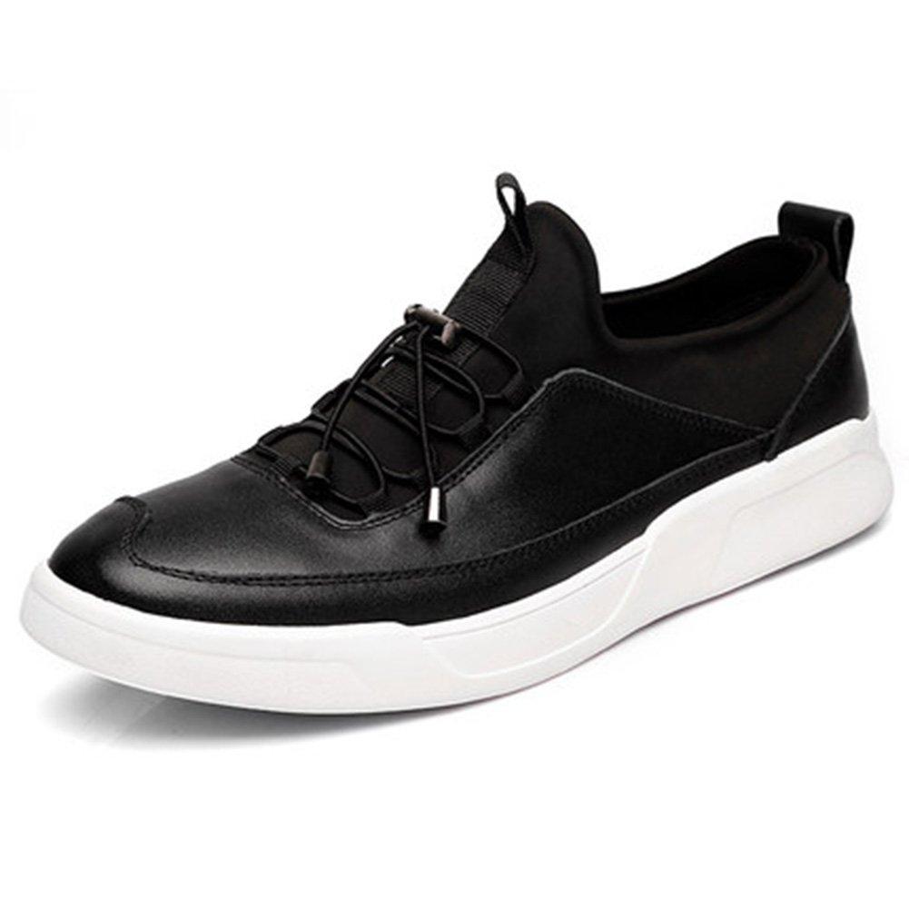 YIXINY Deporte Zapato B02 Primavera Y Otoño La Moda De Estilo Británico De Peso Ligero Transpirable Zapatos Casuales Al Aire Libre Calzado De Hombre ( Color : Negro , Tamaño : EU39/UK6/CN39 ) EU39/UK6/CN39|Negro