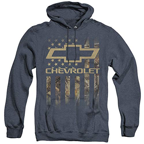 Chevrolet Unisex Adult Pull-Over Heather Hoodie, X-Large Navy from Trevco