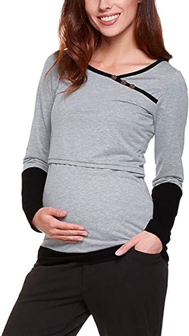Tops para Mujeres Embarazadas Elegante Suelta Lactancia ...