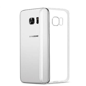 3b9e67c0077 X-Dision Estuche Transparente para Samsung Galaxy S6 Edge, Absorción de  Choque Delgada Flexible Shell de Silicona TPU, Cubierta Superior Ligera y  Antirrayas ...