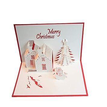 Kreative Weihnachtskarten.Yshs 10 Stück Weihnachtskarten 3d Kreative Weihnachtskarten