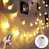 MBLAI LED String Lights,33ft 100 LEDs Battery Operated String Lights with Remote,Decorative Fairy Globe Lights for Bedroom Patio Garden Parties Wedding Indoor Outdoor Use[8 Modes,Timer ]